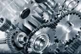 Engineering, cogwheels, gears and chaines — Stock Photo