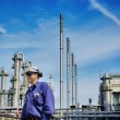 Oil workers, refinery and industry — Stock Photo #60200487