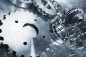 Cogwheels, gears and ball-bearings — Stock Photo
