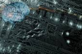 Artificial intelligence, communication and futuristic — Stock Photo
