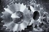 Aerospace engineering cogwheels and gears — Стоковое фото