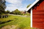 Old farm houses, 17th century sweden — Fotografia Stock