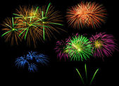 Fireworks in the night — Stock Photo