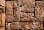 Stone pattern of  decorative  fence wall — Stock Photo