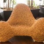 Wicker chair decorative luxury modern — Stock Photo #53084791