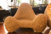 Wicker chair decorative luxury modern — Stock Photo