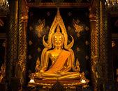 золотая статуя будды — Стоковое фото
