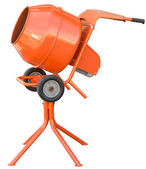 Small orange concrete mixer machine — Stock Photo