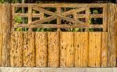 Old wood  fence decorative — Stock Photo