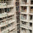 Scaffolding on a building wall — Stock Photo #62711003