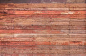 Pattern detail of old red wood strip texture — Stock fotografie
