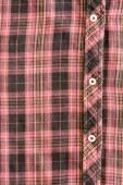 Man's cotton plaid shirt background — Stock Photo
