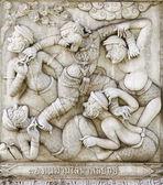 传统的泰式风格的灰泥的杰作 — 图库照片