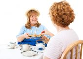 Two Ladies For Tea — Stock Photo