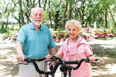 Senior Couple Stays Active — Stock Photo