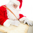 Santa Writing List on Parchment — Stock Photo #54198297