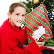 Boy With Chrstmas Gift — Stockfoto #54198319