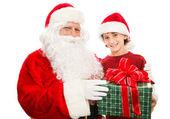 Weihnachtsgeschenk vom Weihnachtsmann — Stockfoto