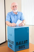 Senior Man with Ballot Box — Stock Photo