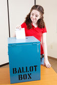 Voting For the First Time — Stock Photo