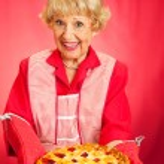Grannys Home-baked Cherry Pie — Stock Photo #56373057