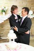 Wedding Reception for Gay Couple — Stock Photo