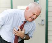 Chest Pain or Nausea — Stock Photo
