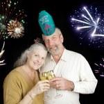 Seniors Celebrate New Years — Stock Photo #58825717