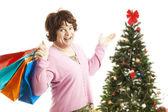 Cross Dresser - Christmas Shopping Spree — Stock Photo
