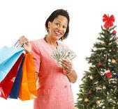 Christmas Shopping - Big Spender — Stock Photo