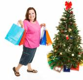Christmas Bargain Shopper — Stock Photo