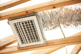 Exposed Air Conditioning Duct Work — Stock Photo