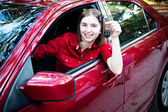 Teenage Driver in New Car — Stock Photo