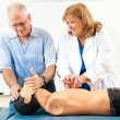 Mature Man Learning CPR — Stock Photo #66088037