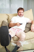 Injurecd Man at Home — Stock Photo