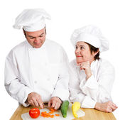 Chefs - Observing Preperation — Stock Photo
