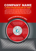 Vector brochure background with infographic circle — Stockvektor