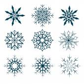 Vector collection of abstract snowflakes — Vettoriale Stock