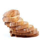 Chléb izolovaných na bílém pozadí. — Stock fotografie