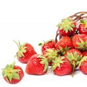 Fresh fruit strawberries on white background. — Foto Stock