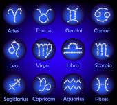 Horoscope Gems Signs Set — Stock Photo