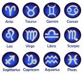 Horoscope icons set — Stock Photo
