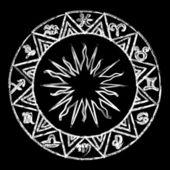 Chalk Horoscope icons poster — Stock Photo
