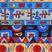 Tribal color seamless pattern — Stock Photo