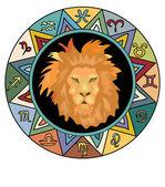 Signo del zodiaco leo — Foto de Stock