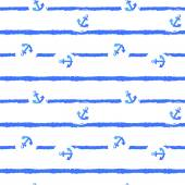 Nautical Watercolor hand drawn grunge  Seamless Pattern — Stockfoto