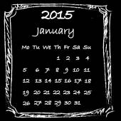 Calendar 2015 January — Stock Photo