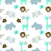 Baby  animals seamless Pattern — Stock Photo
