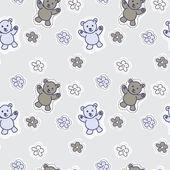 Baby  bear animals seamless Pattern — Stock Photo
