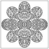 Tribal coloring zentangle — Stock Photo